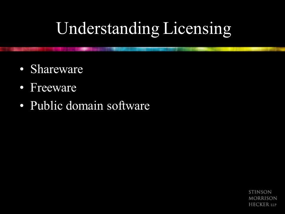 Understanding Licensing Shareware Freeware Public domain software