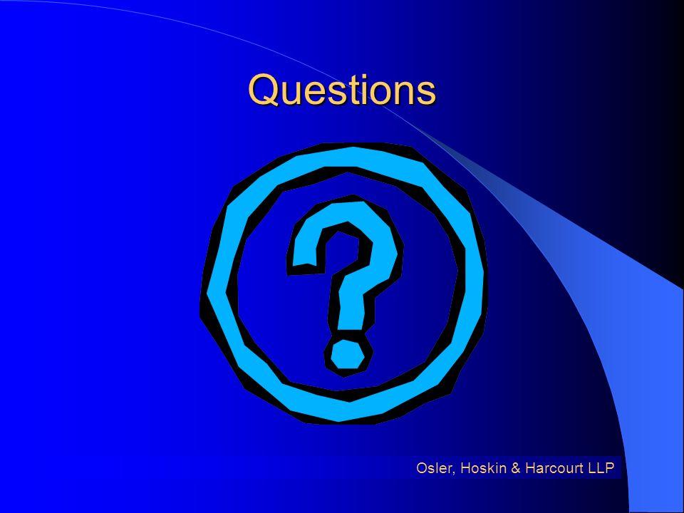 Questions Osler, Hoskin & Harcourt LLP
