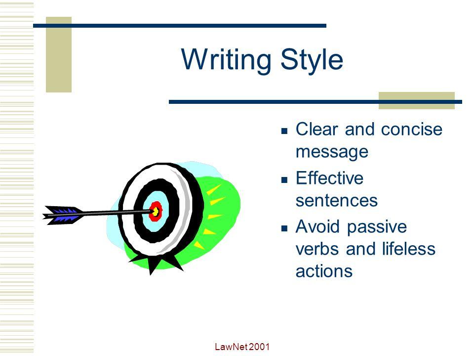 LawNet 2001 Writing Style Effective communication