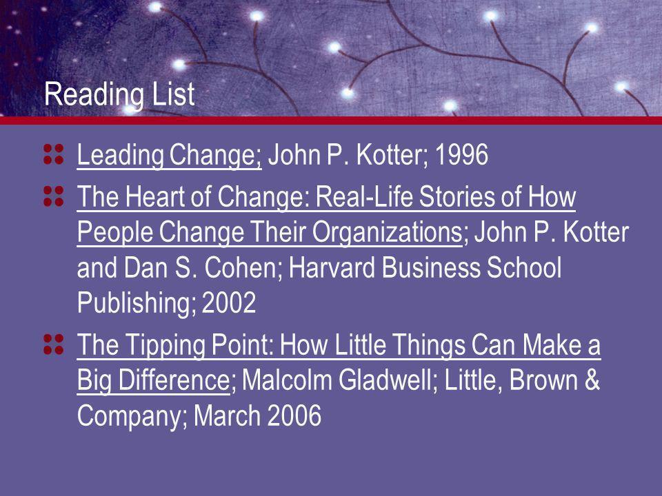 Reading List Leading Change; John P.