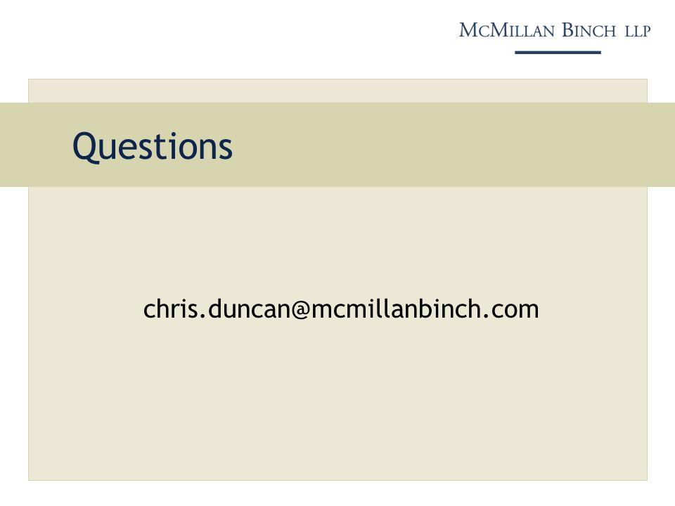 Questions chris.duncan@mcmillanbinch.com