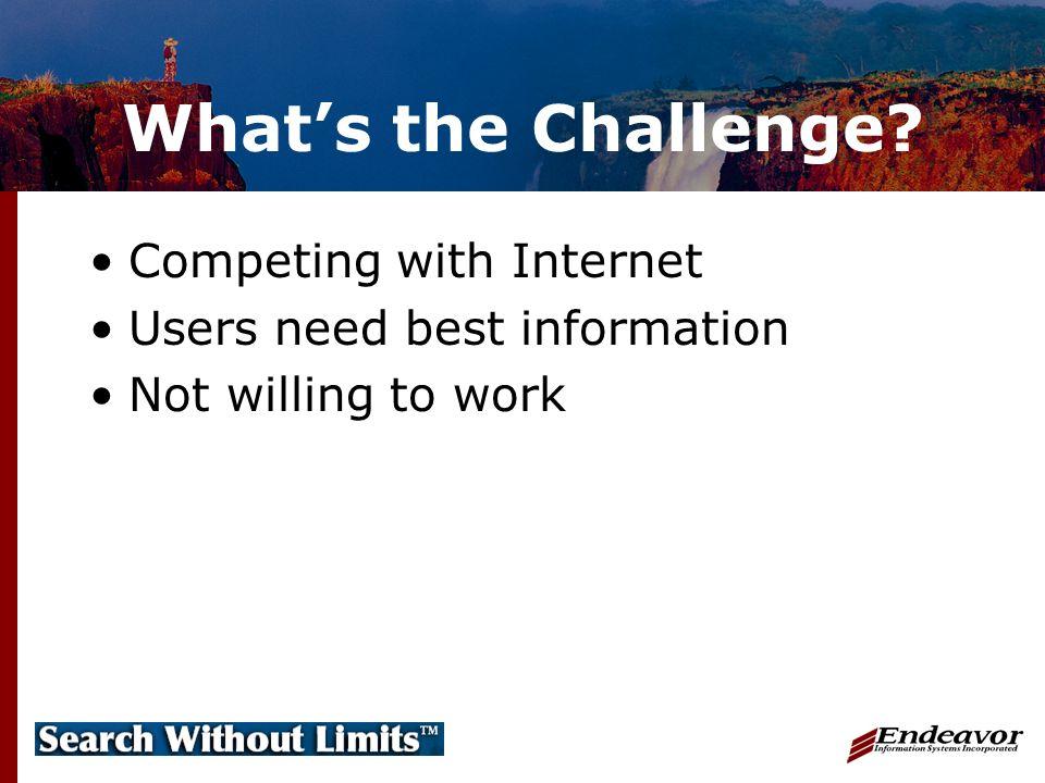 How Do We Meet the Challenge.