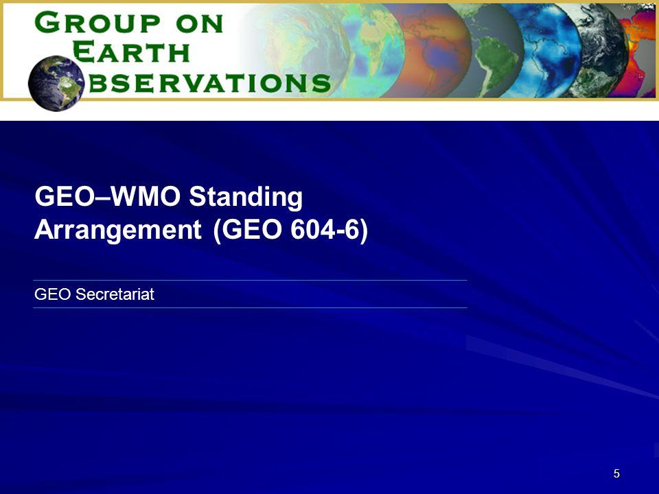 26 GEO Secretariat 2006 Work Plan Development (GEO 607-3)