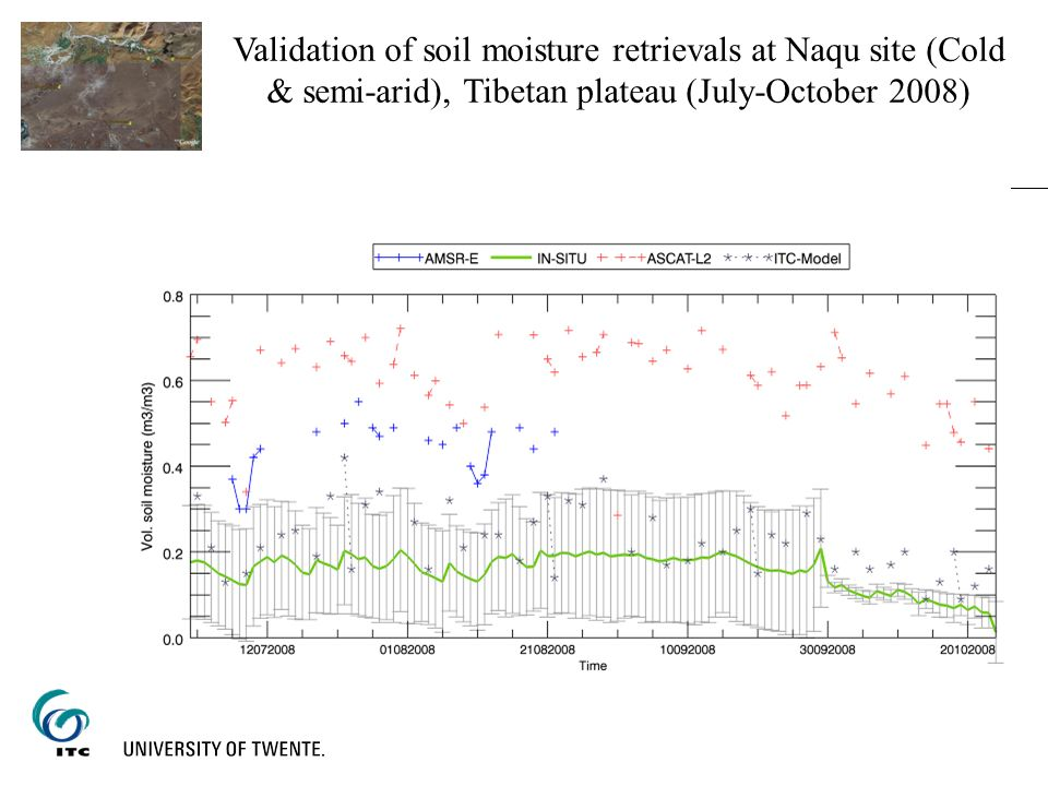 Validation of soil moisture retrievals at Naqu site (Cold & semi-arid), Tibetan plateau (July-October 2008)