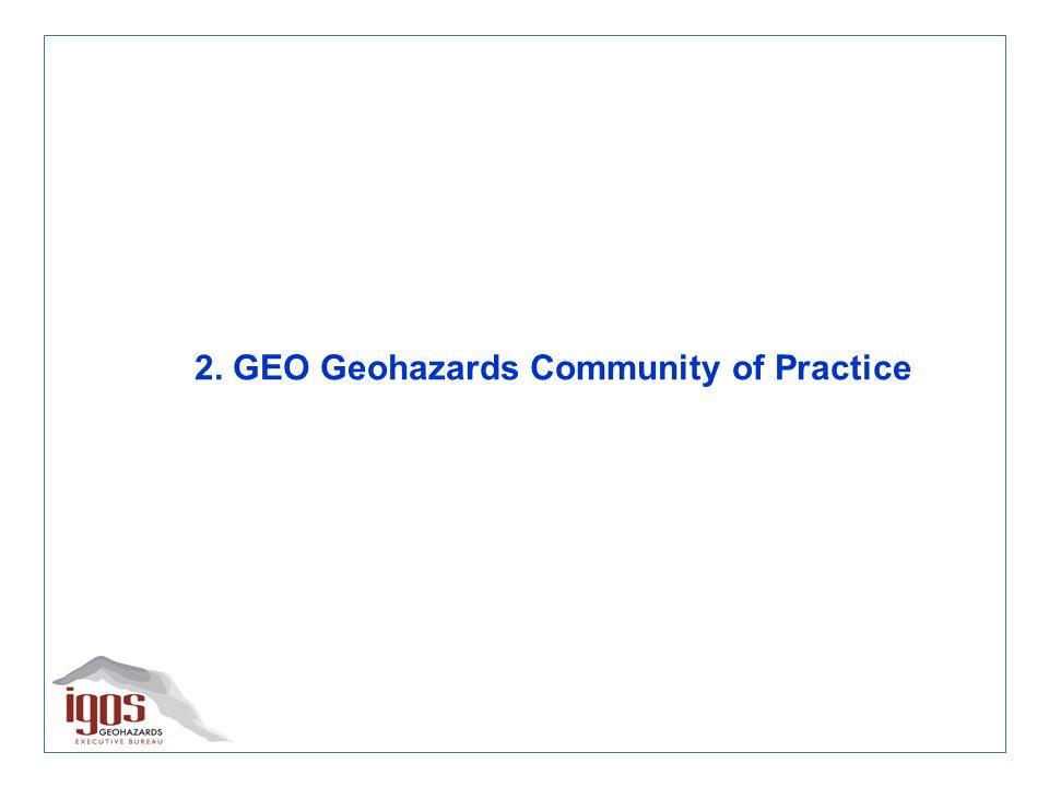 Hazard Map Catalogue – GeoHazData system Aim: to share metadata on Hazard Maps Contribution of international partners needed!