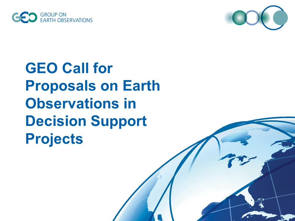 GEO Call for Proposals on Earth Observations in Decision Support Projects