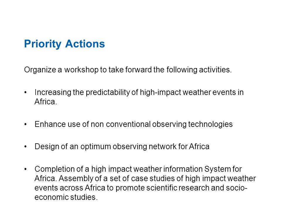 GIFS concept GIFS will use global- regional-national cascade pioneered by the WMO Severe Weather Forecast Demonstration Project (SWFDP).