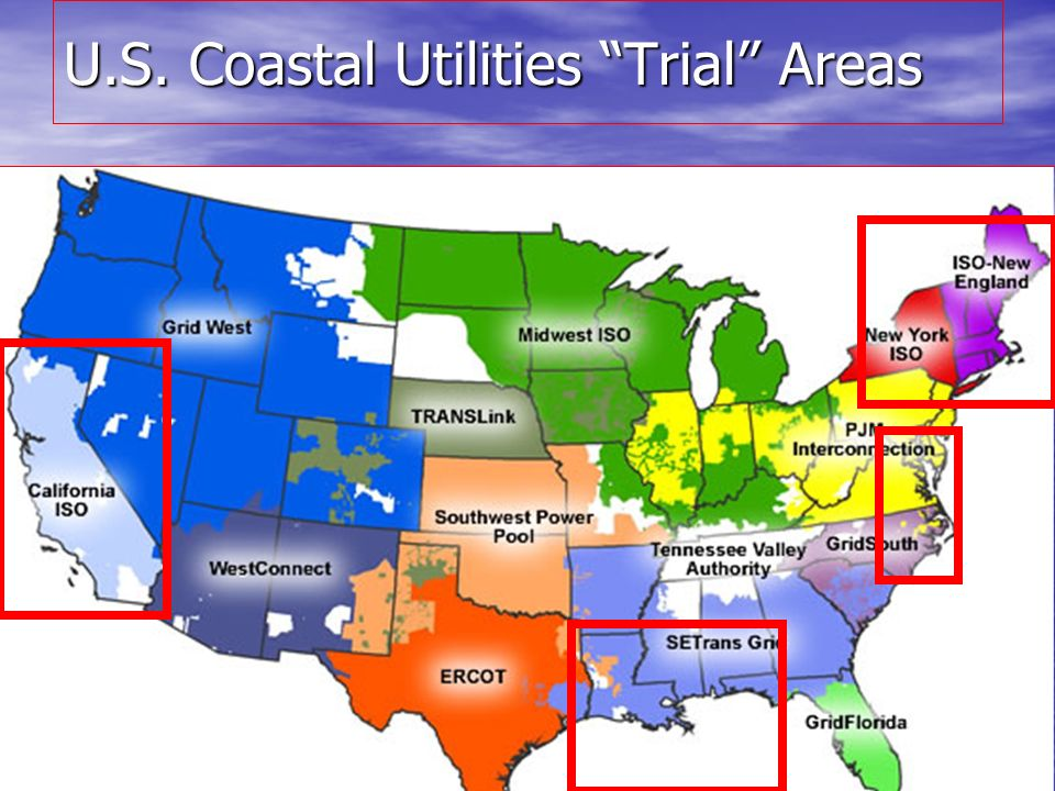 U.S. Coastal Utilities Trial Areas