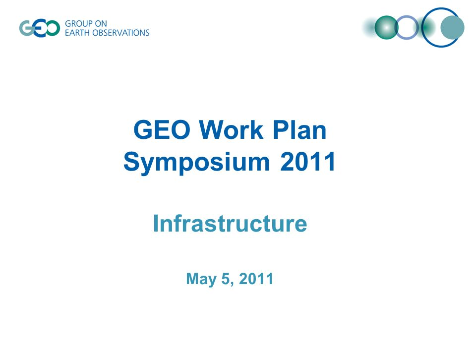 GEO Work Plan Symposium 2011 Infrastructure May 5, 2011