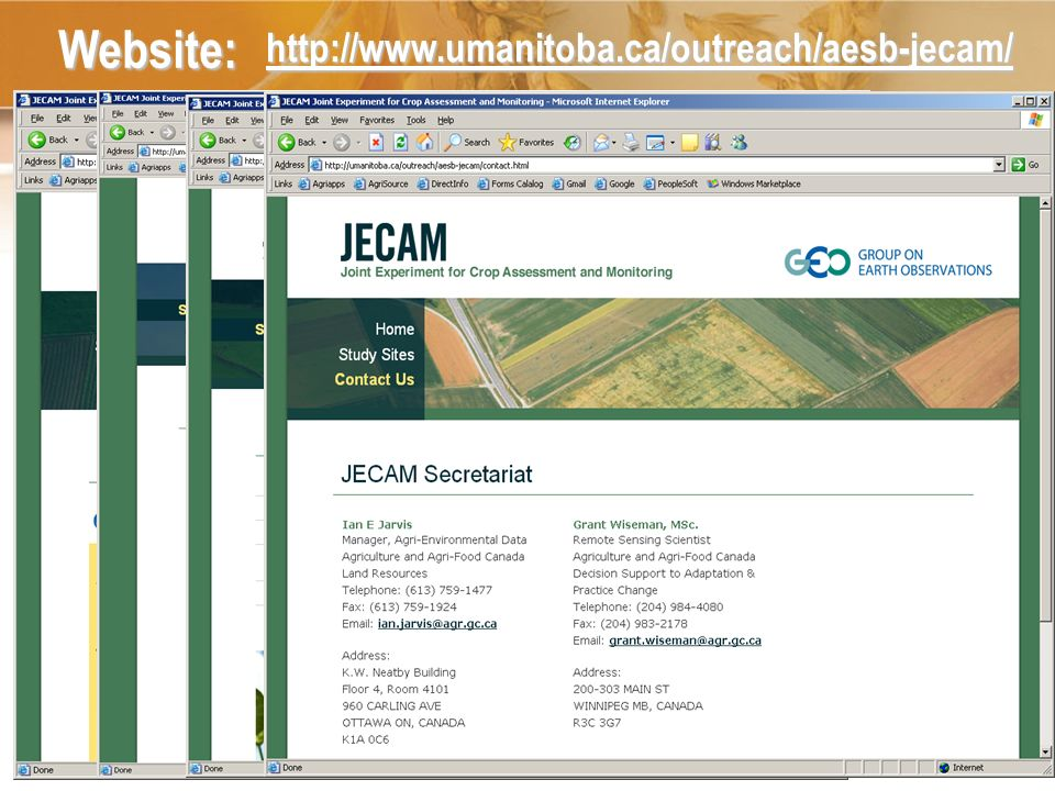 How do You Get Involved JECAM needs representation from all major cropping systems of the world At this point South America is under represented Develop a brief description of a monitoring research site and submit this for JECAM review.