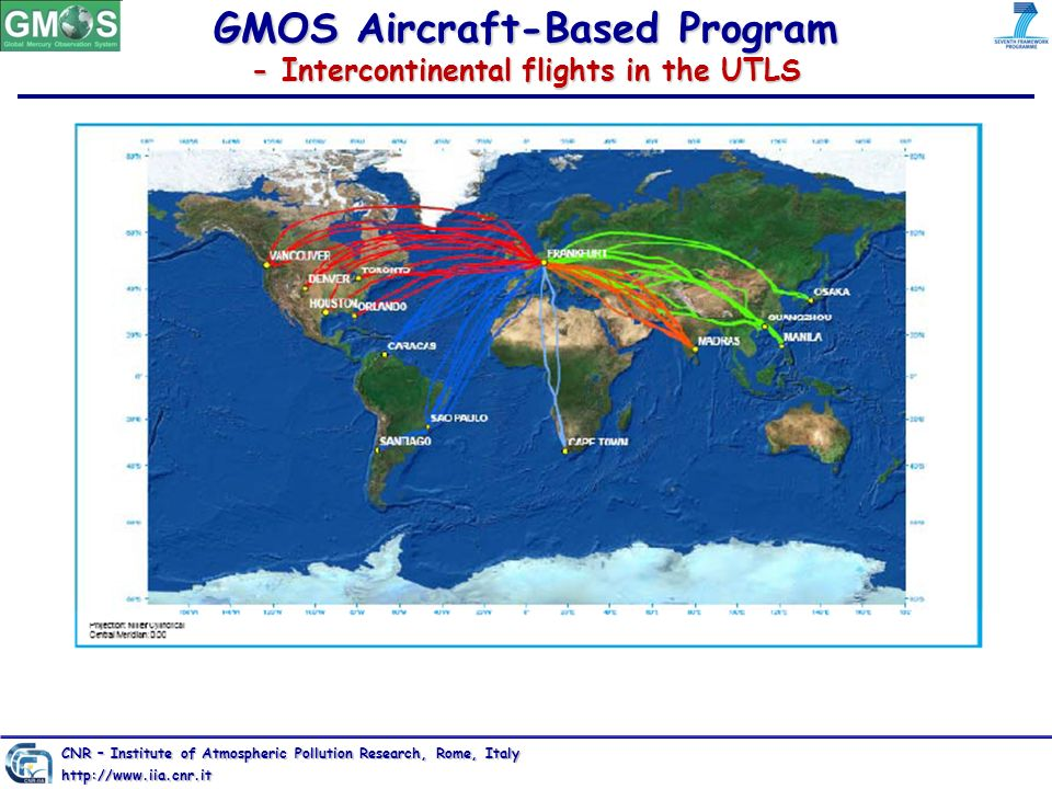 GMOS Aircraft-Based Program - Intercontinental flights in the UTLS CNR – Institute of Atmospheric Pollution Research, Rome, Italy http://www.iia.cnr.i