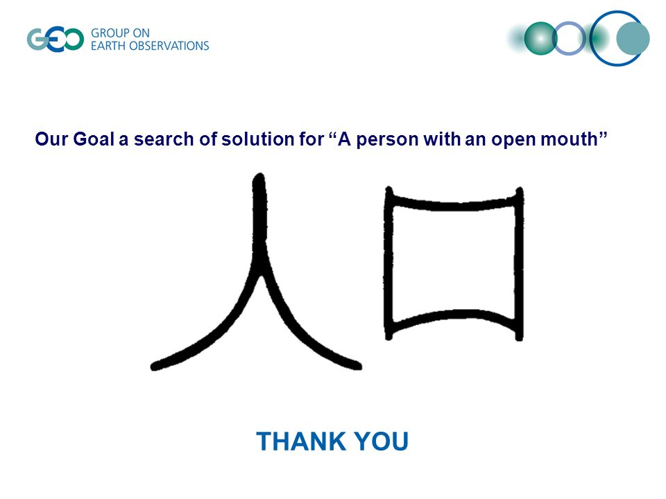 THANK YOU Our Goal a search of solution for A person with an open mouth
