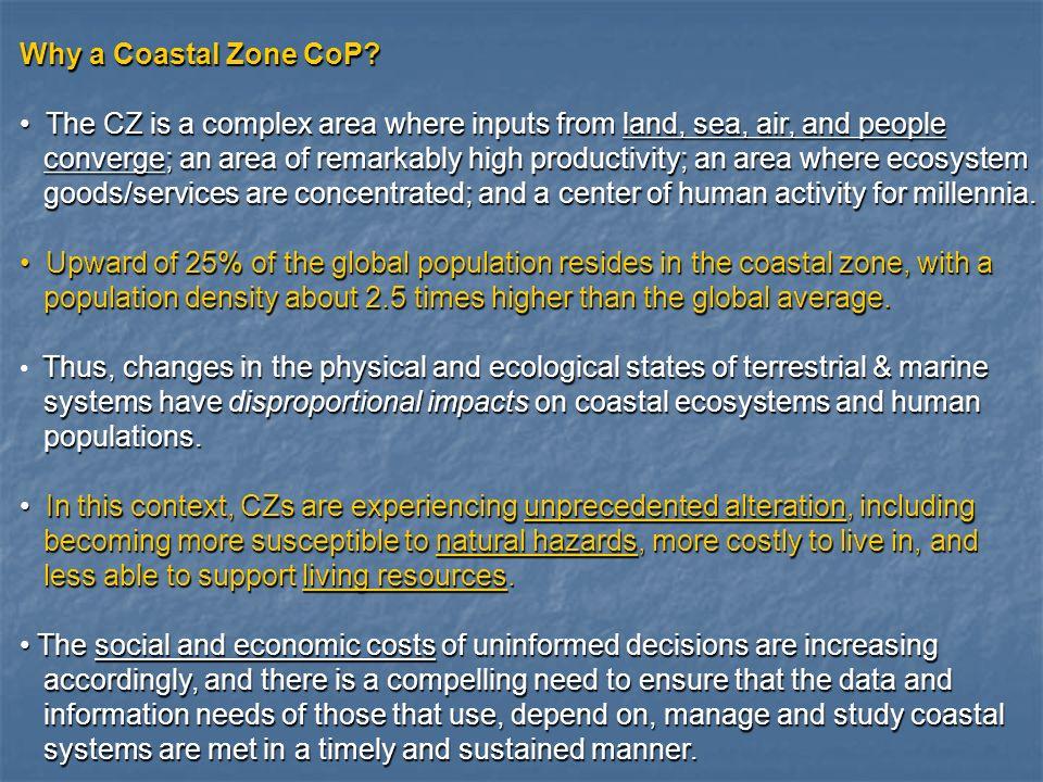Why a Coastal Zone CoP.