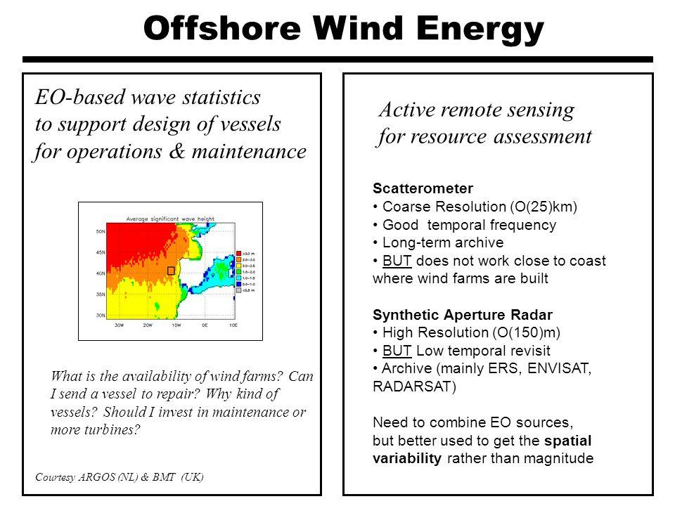 Onshore Wind Energy EO-based roughness & Digital Elevation Model for wind modeling Contributing to Enhanced Wind Energy Modeling Results Courtesy ARMINES (FR)Courtesy WindLogics (USA)
