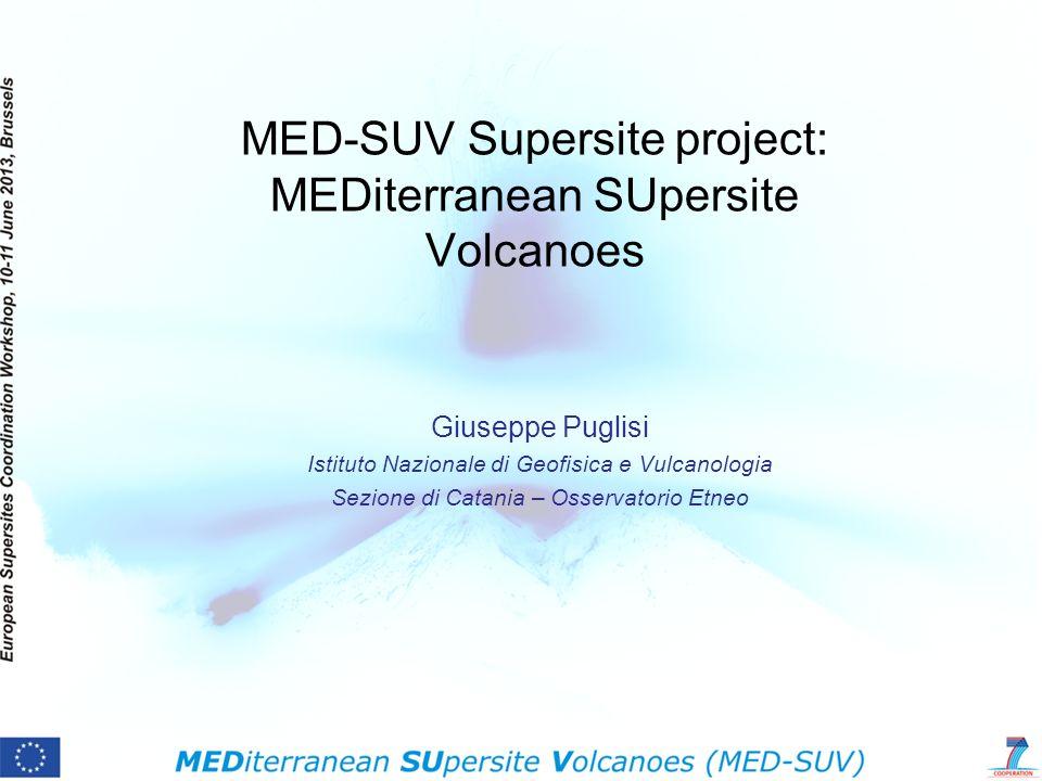 MED-SUV Supersite project: MEDiterranean SUpersite Volcanoes Giuseppe Puglisi Istituto Nazionale di Geofisica e Vulcanologia Sezione di Catania – Osse
