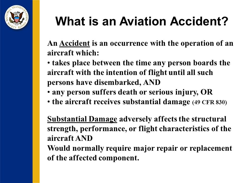 What is an Aviation Accident.