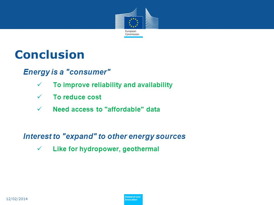 Policy Research and Innovation Research and Innovation 12/02/2014 Energy is a