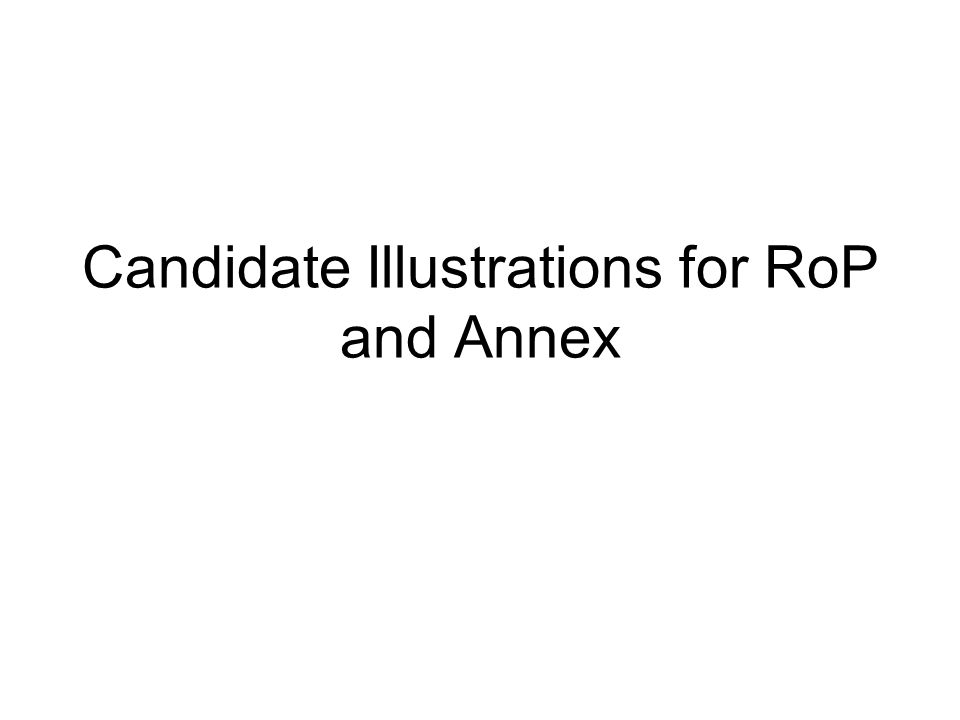 Candidate Illustrations for RoP and Annex