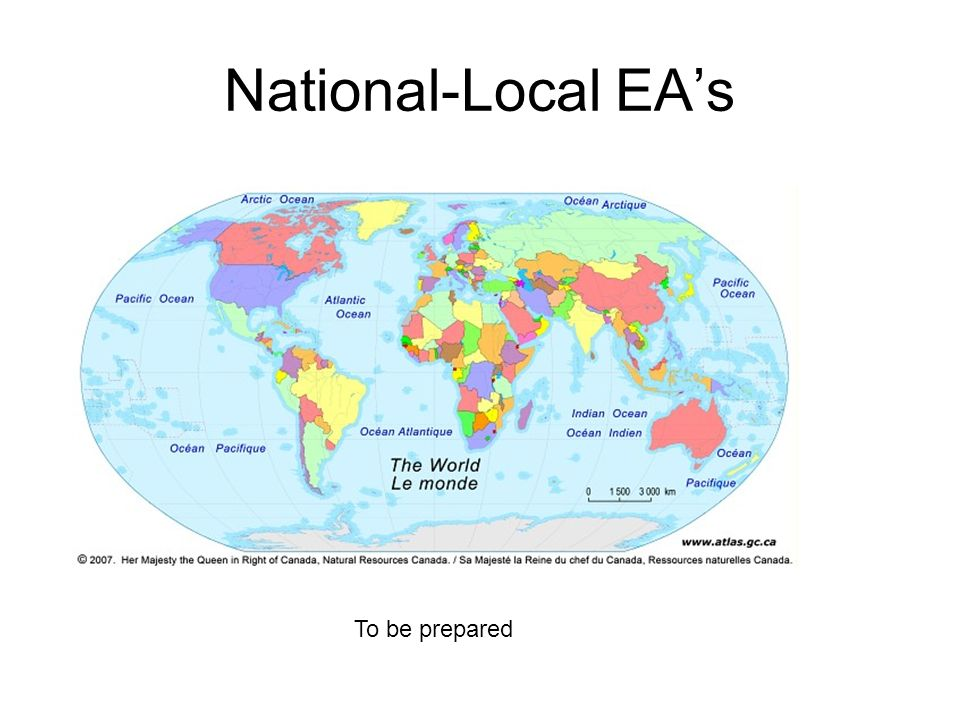 National-Local EAs To be prepared