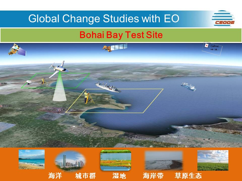 ENVISAT RADARSAT LANDSAT SPOT Bohai Bay Test Site Global Change Studies with EO