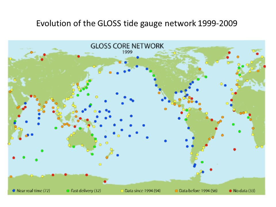 Evolution of the GLOSS tide gauge network 1999-2009