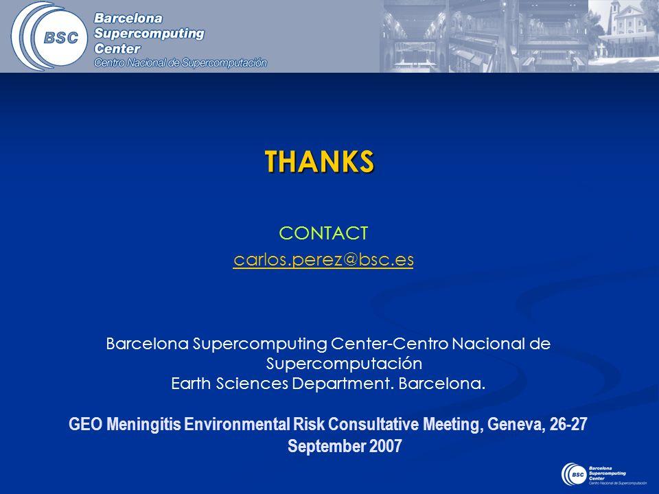 CONTACT carlos.perez@bsc.esTHANKS Barcelona Supercomputing Center-Centro Nacional de Supercomputación Earth Sciences Department. Barcelona. GEO Mening