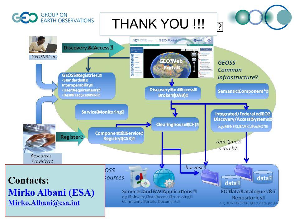 THANK YOU !!! Contacts: Mirko Albani (ESA) Mirko.Albani@esa.int