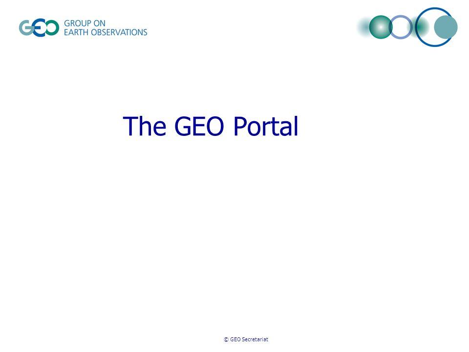 © GEO Secretariat The GEO Portal