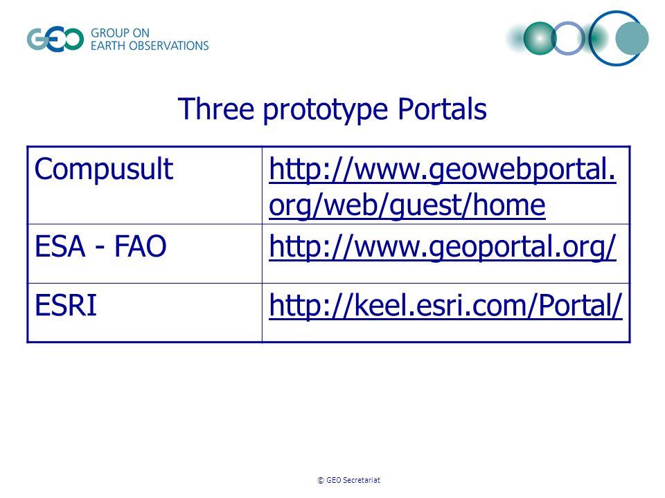 Three prototype Portals Compusulthttp://www.geowebportal.