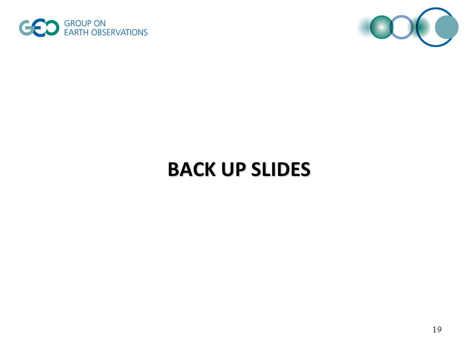 BACK UP SLIDES 19