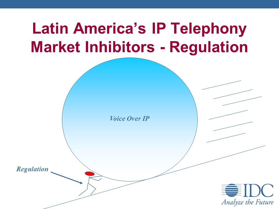 Latin Americas IP Telephony Market Inhibitors - Regulation Regulation Voice Over IP
