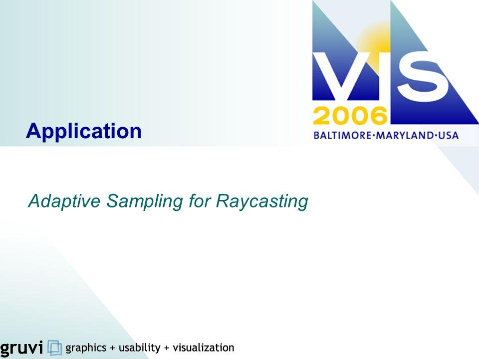 Application Adaptive Sampling for Raycasting