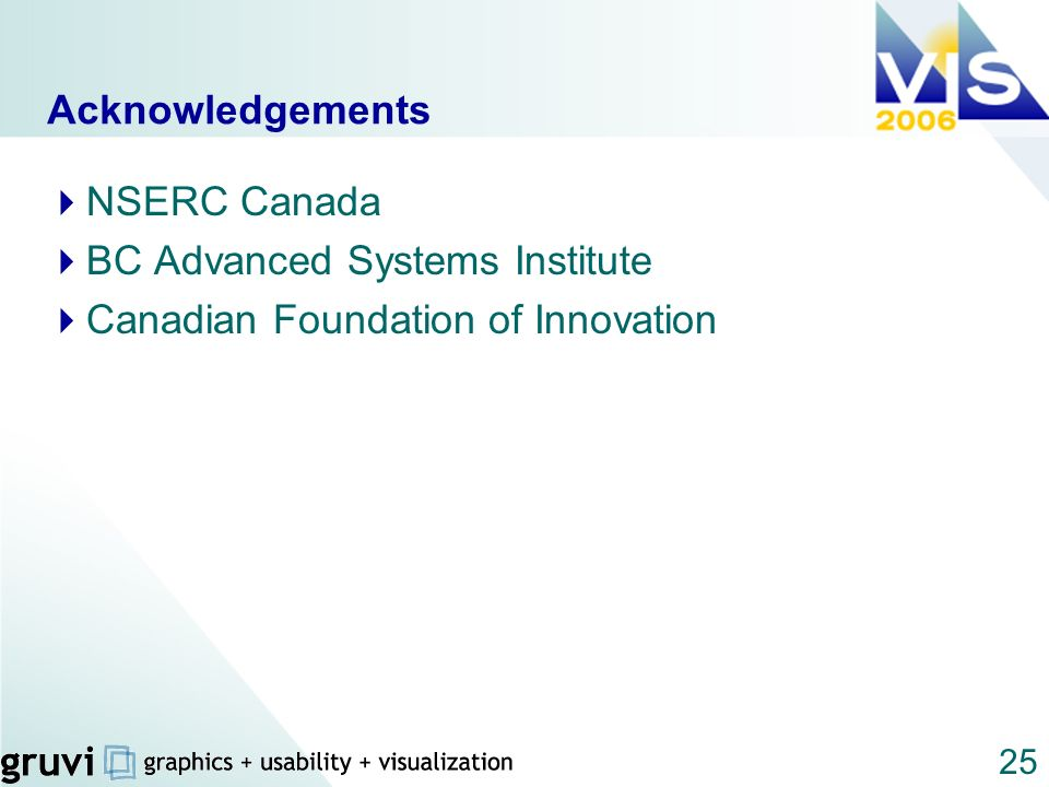 25 Acknowledgements NSERC Canada BC Advanced Systems Institute Canadian Foundation of Innovation