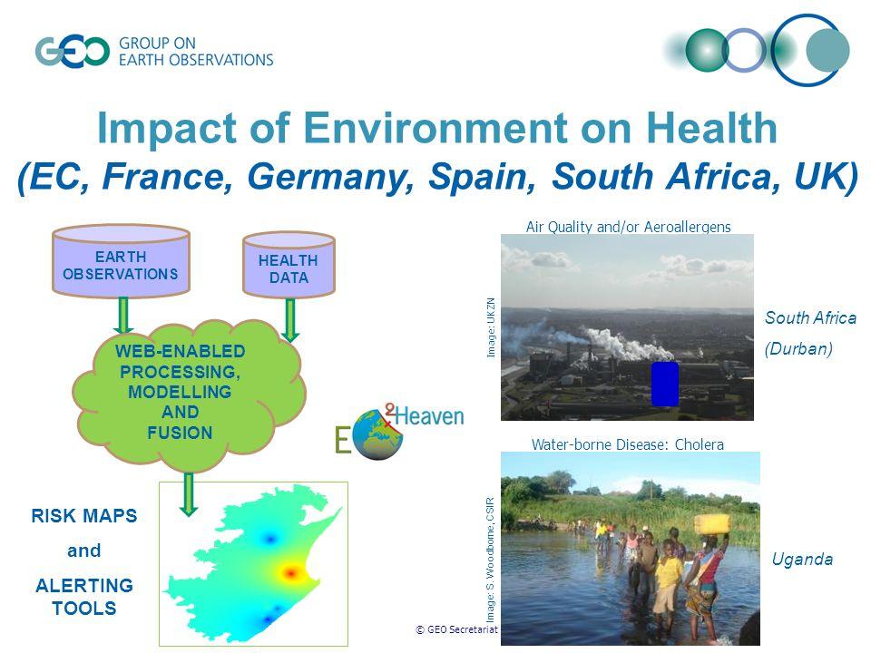 © GEO Secretariat Water-borne Disease: Cholera Image: S.