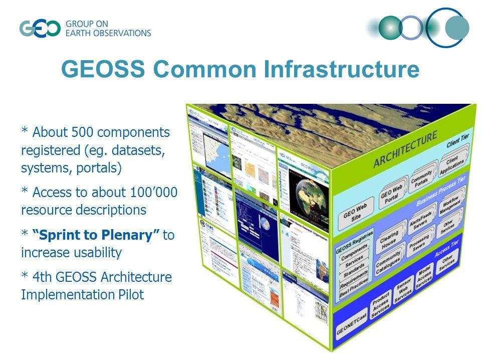 © GEO Secretariat * About 500 components registered (eg.