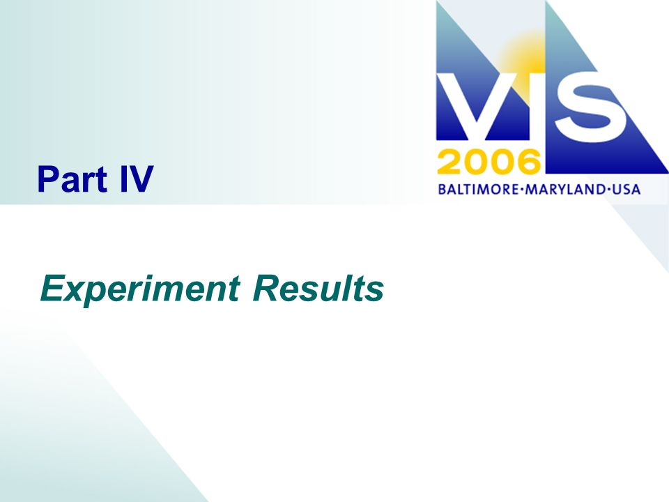 Part IV Experiment Results
