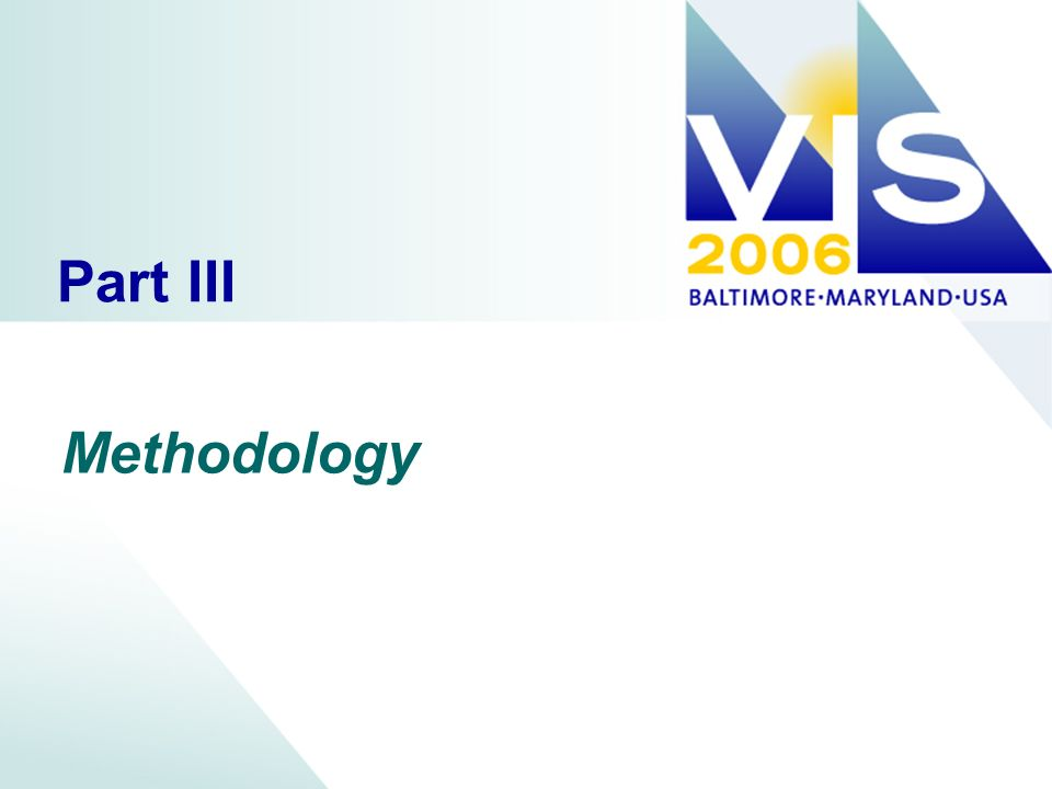 Part III Methodology