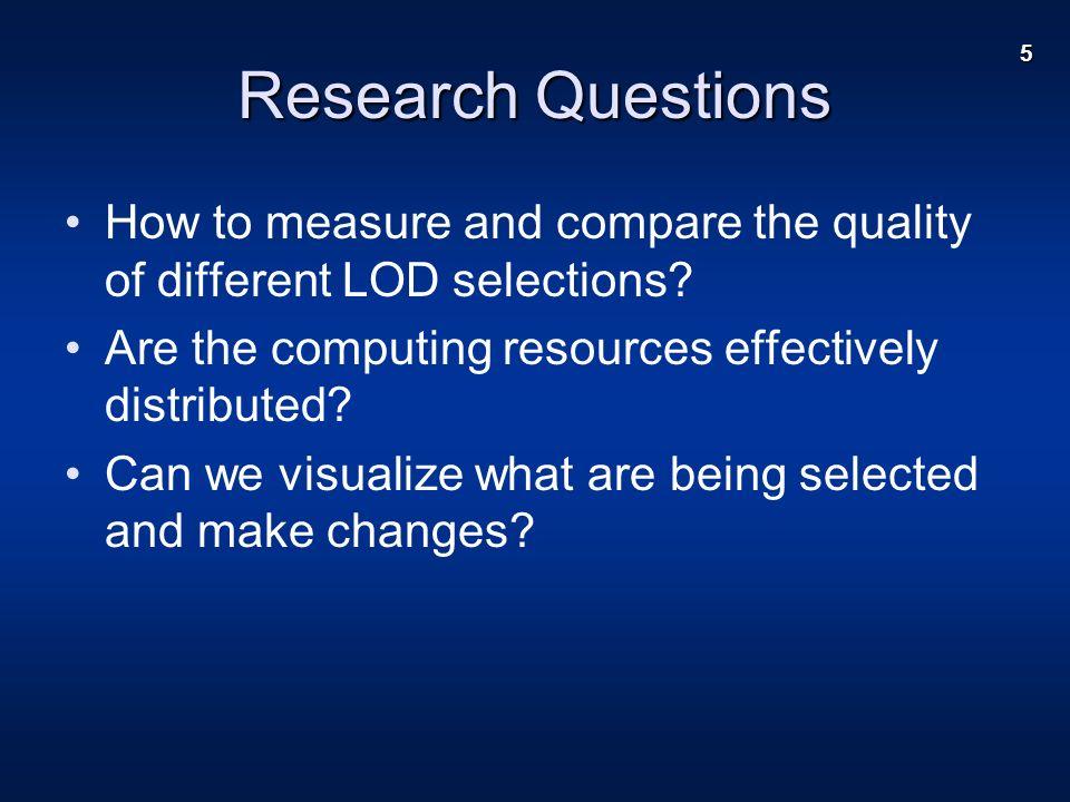 16 Results – LOD Comparison