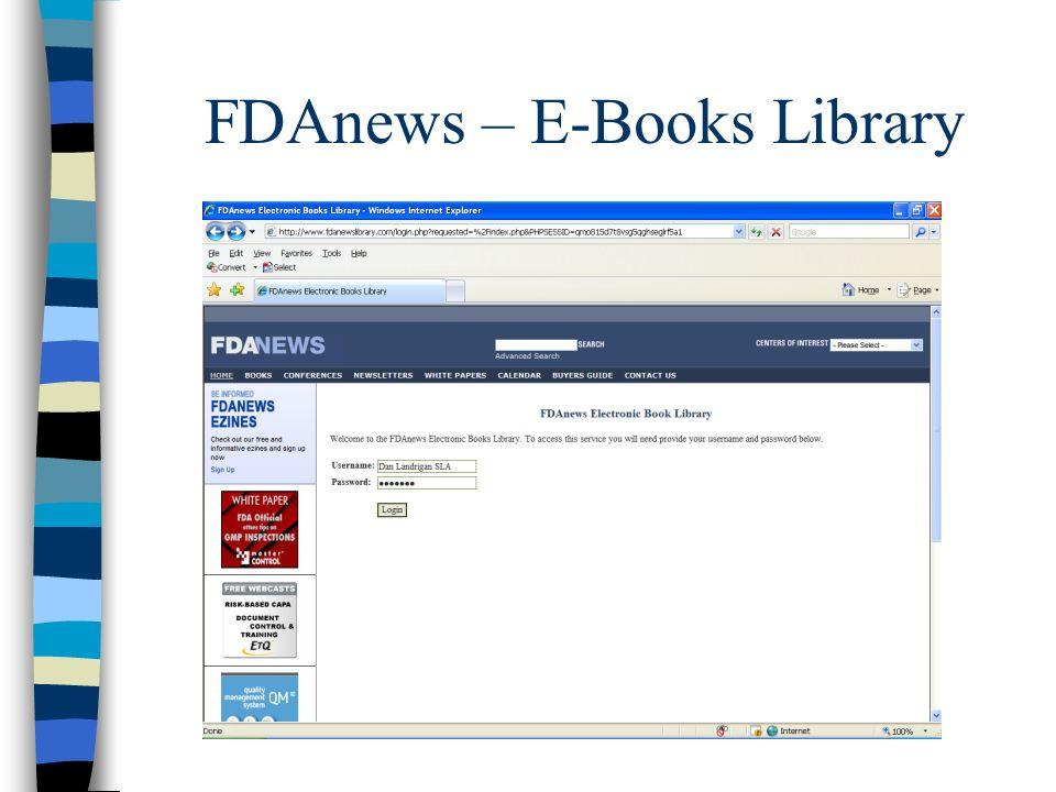 FDAnews – E-Books Library
