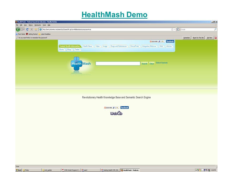 HealthMash Demo
