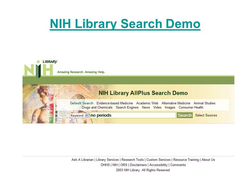 NIH Library Search Demo