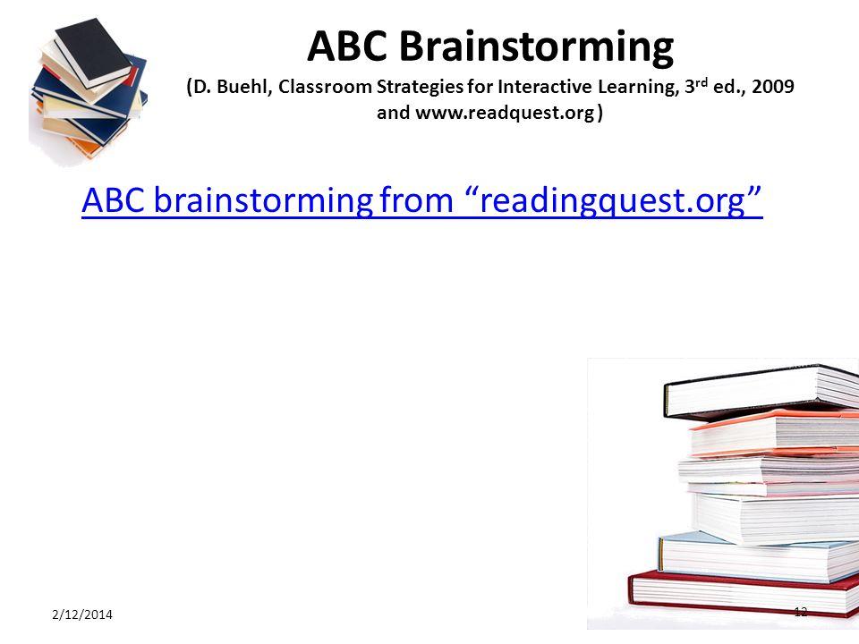 ABC Brainstorming (D.