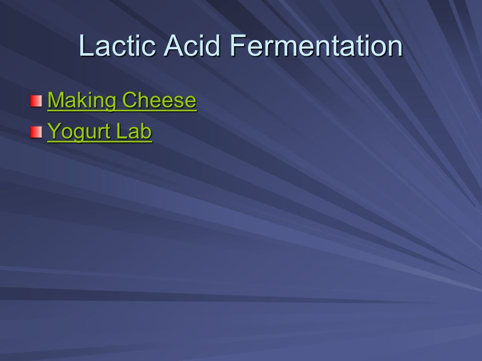 Lactic Acid Fermentation Making Cheese Making Cheese Yogurt Lab Yogurt Lab