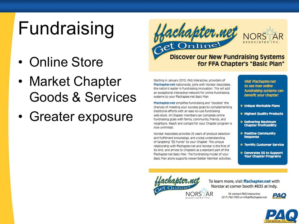 Fundraising Online Store Market Chapter Goods & Services Greater exposure