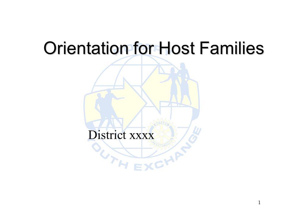 1 Orientation for Host Families District xxxx