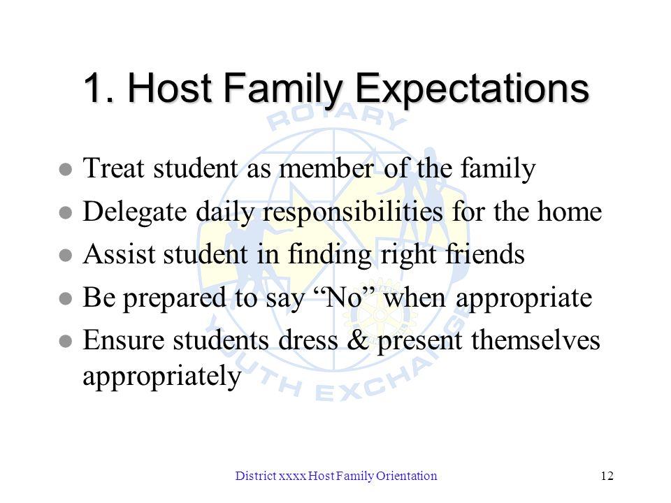 District xxxx Host Family Orientation12 1.