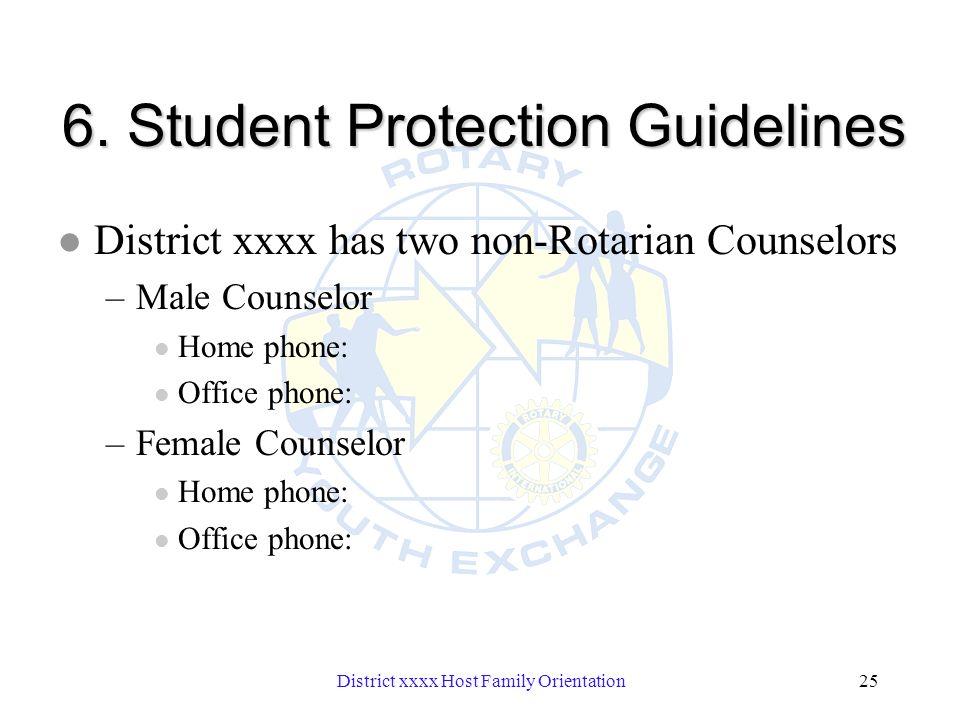 District xxxx Host Family Orientation25 6.