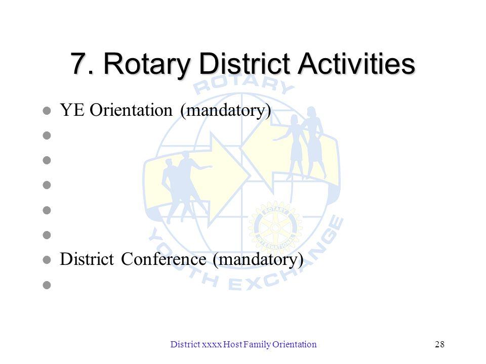 District xxxx Host Family Orientation28 7.