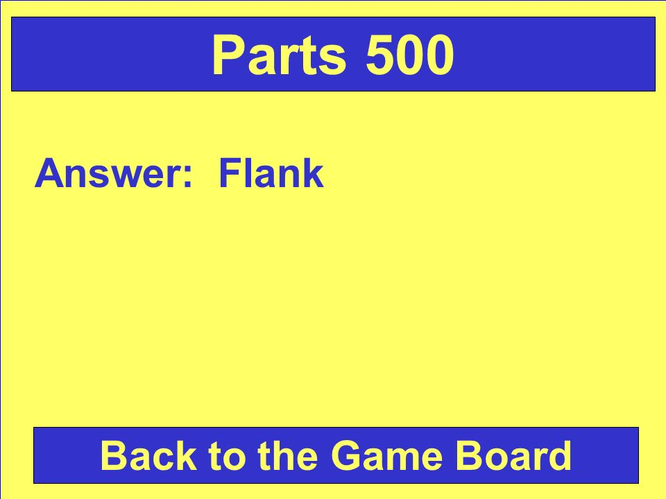 Answer: Flank Back to the Game Board Parts 500
