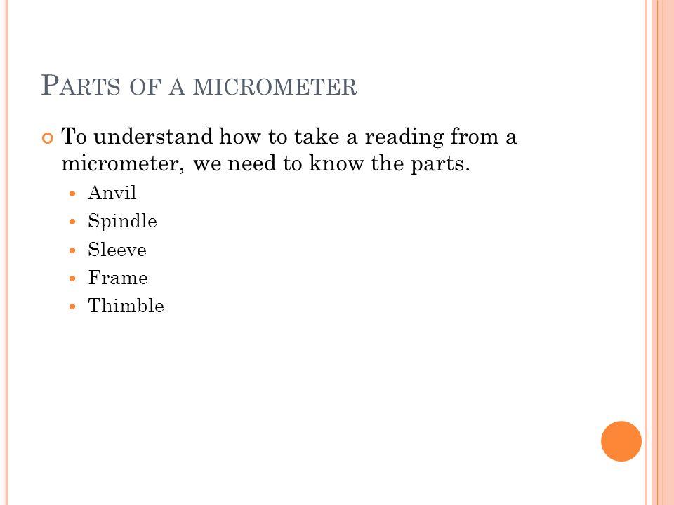 I DENTIFY T HESE M EASURING T OOLS C.D.A.B. MicrometerOutside CaliperInside CaliperFeeler Gauge